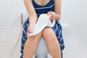 constipation pain relief concept